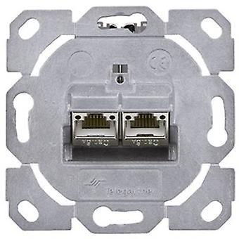 Network outlet Flush mount Insert CAT 6A 2 ports T