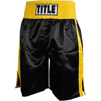 Title Professional Boxing Trunks - Black/Gold