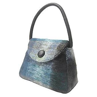 Tartan Handbag S (Mohair Blue)