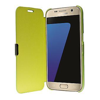 Tirón de la manga del teléfono del caso de la cubierta Bookstyle para Samsung Galaxy S7 borde verde