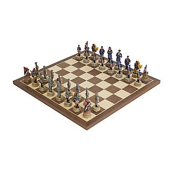 The American Civil War Hand painted themed Chess set by Italfama