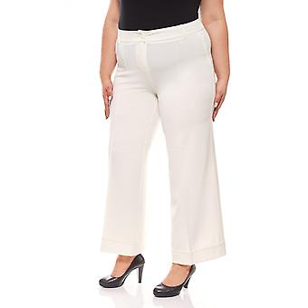 Marlene pants short size plus size white vivance collection
