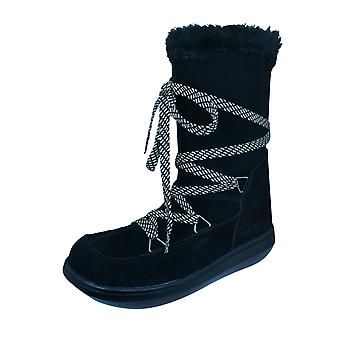 Rocket Dog Snowcrushed Womens Suede Snow Boots - Black