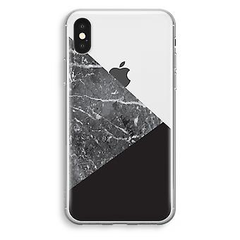 iPhone XS Transparant Case (Soft) - Marble combination