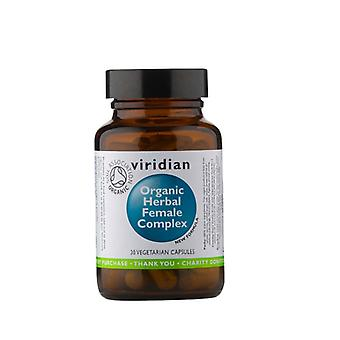 Viridian Organic Herbal Female Complex  30 vegi caps