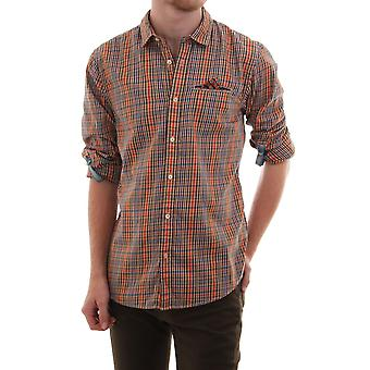 Scotch & Soda Checked Ls Shirt With Roll Back Sleeves