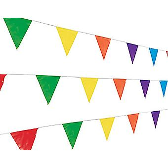 200m Bright Colour Polythene Bunting Collection - Fete Pack