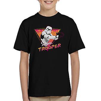 T-shirt original Stormtrooper Retro Wave dos anos 80 infantil