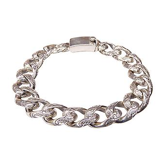 Silver bracelet with motif on select