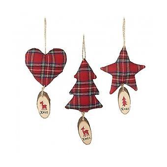 Heaven Sends Tartan Christmas Decorations