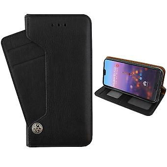Colorfone Huawei P20 cartera bolsa (negro)