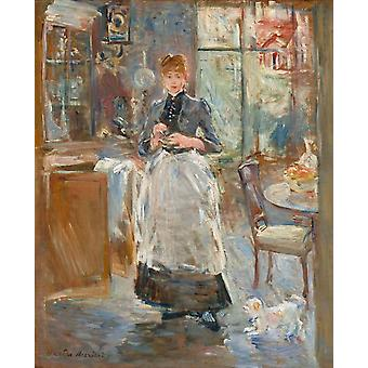 In the Dining Room, Berthe Morisot, 50x40cm