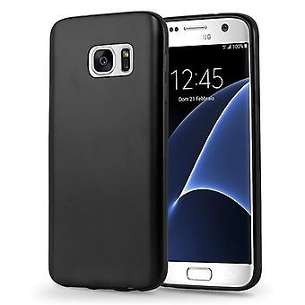 Cadorabo sleeve for Samsung Galaxy S7 - mobile cover from TPU silicone in the matte metallic design - silicone case cover ultra slim soft back cover case bumper