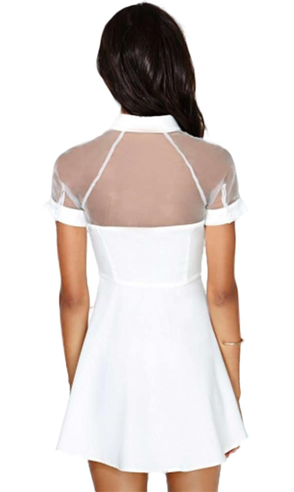 Waooh - transparent dress neckline Ozee