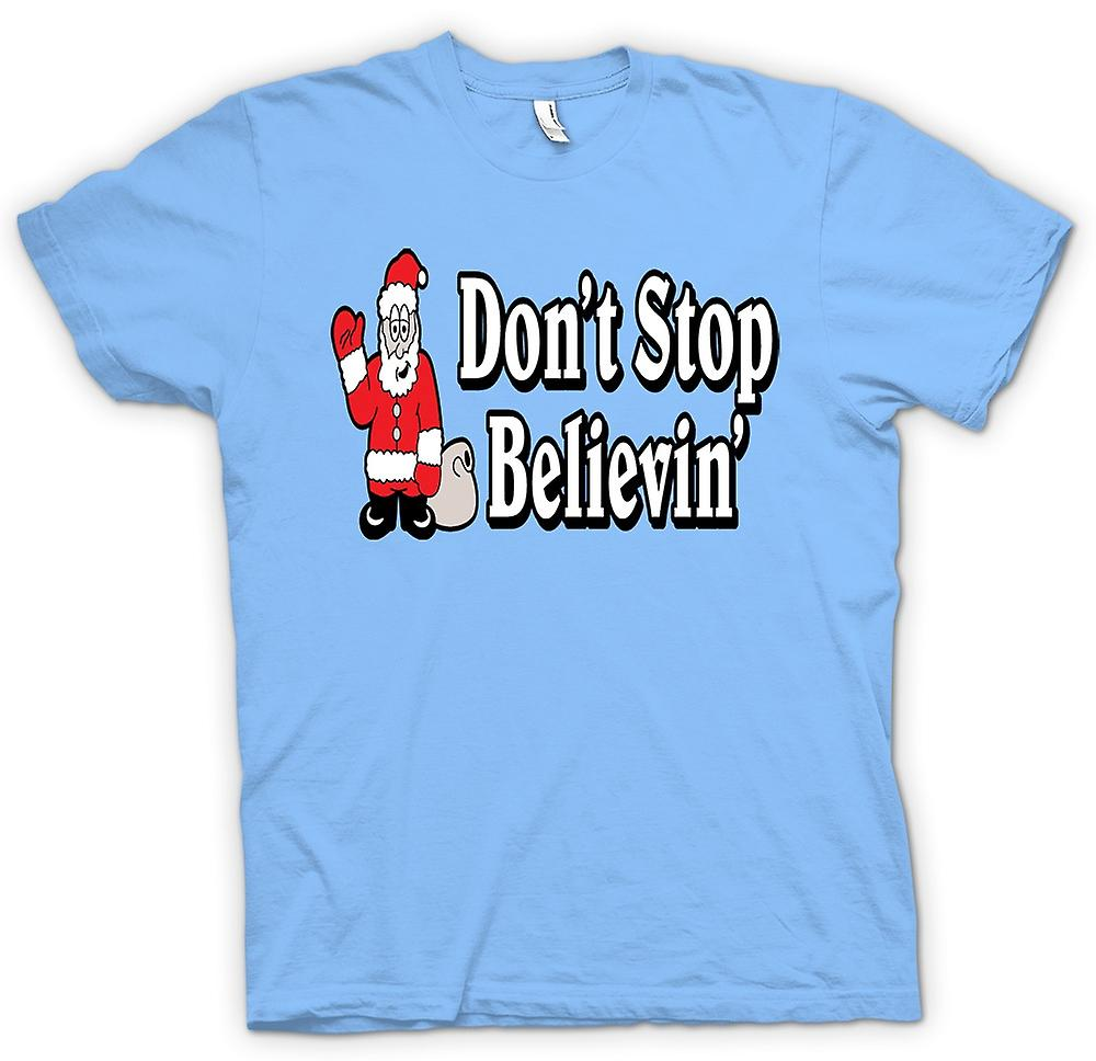 Mens T-shirt - Santa Believe - Funny Christmas