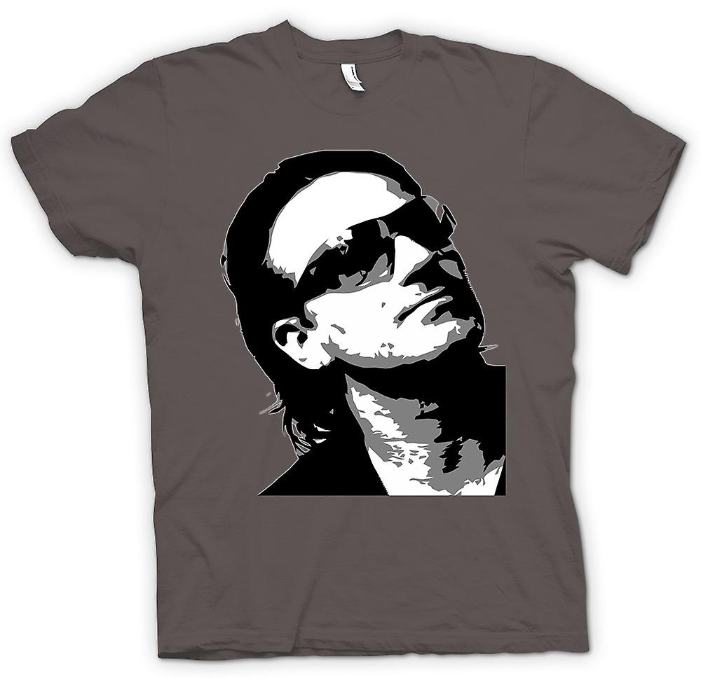 Womens T-shirt - Bono U2 - BW