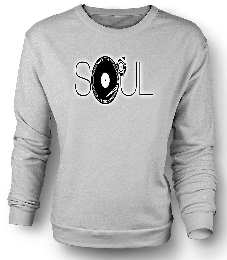 Mens Sweatshirt Soul - Retro Music DJ