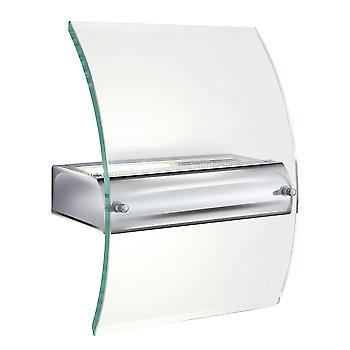 Searchlight LE4115 Low Energy Chrome And Glass Wall Light