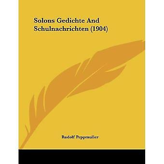 Solons Gedichte and Schulnachrichten (1904)