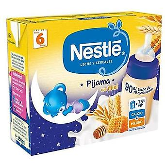 Nestlé Milk and Cereal Pajamas with Honey 2x250ml (Childhood , Food , Cereals)