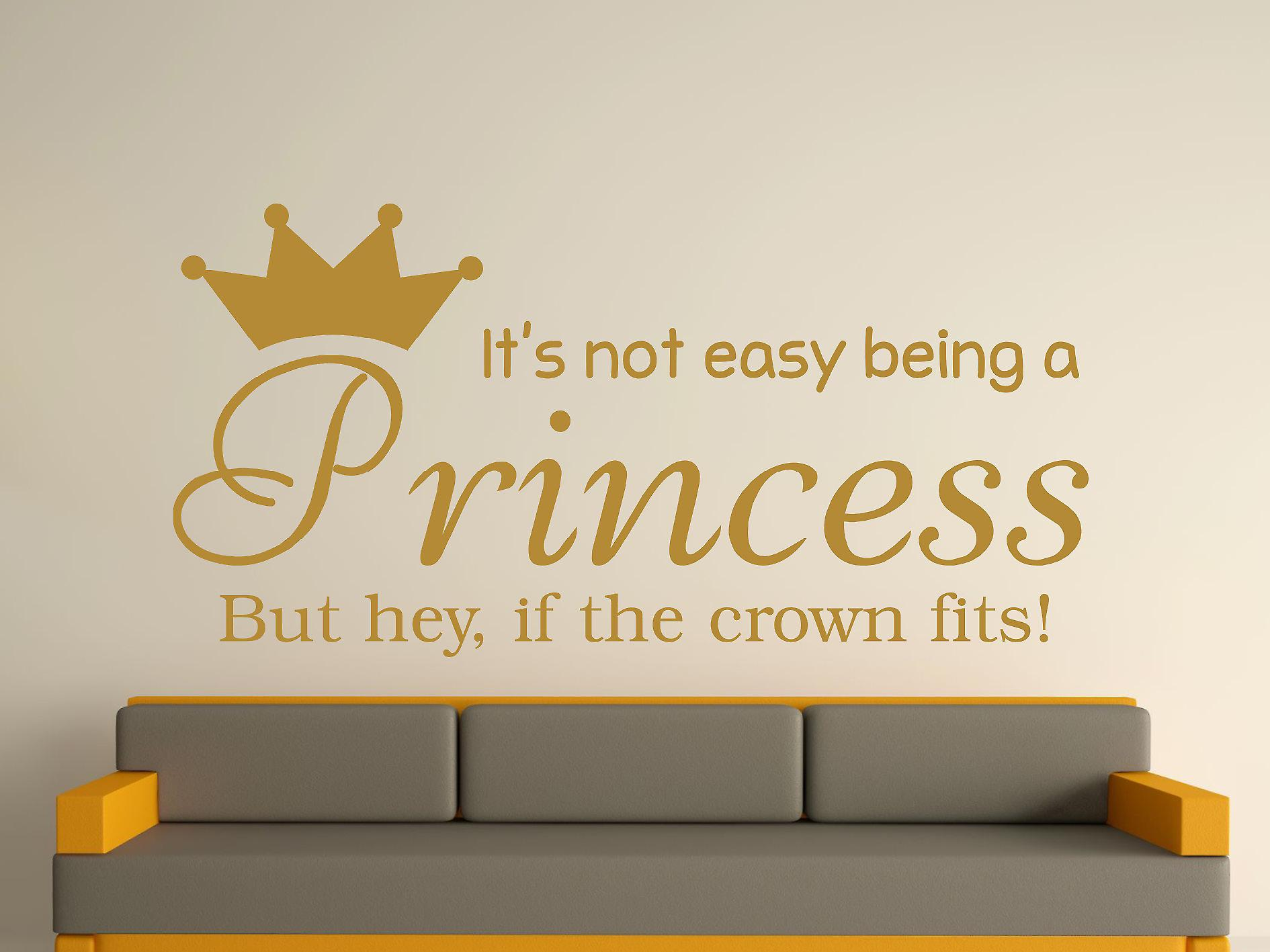 Being A Princess Wall Art Sticker - Gold
