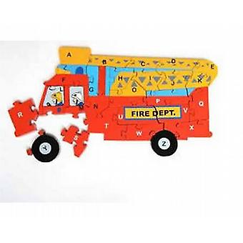 DE TOY WORKSHOP - brandweerwagen Jigsaw