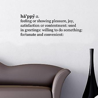 Happy Dictionary Wall Quote