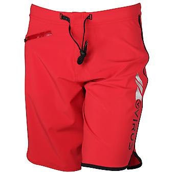 Virus Mens ST1 Airflex Training Shorts - Red/Silver