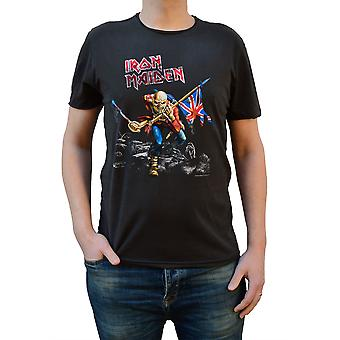 Amplified Iron Maiden 1980 Tour Charcoal Crew Neck T-Shirt L