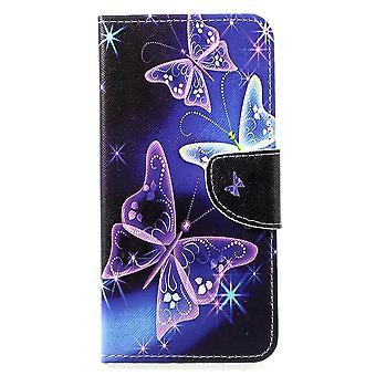Huawei P30 poco cartera caso hermosa mariposa