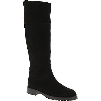 Chaussures de bottes de haute couture pour femmes Dolce & Gabbana en cuir de daim noir