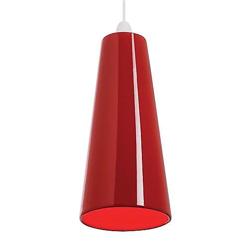 Endon NE-PRESTON-RE Non Electric Handmade Red Ceramic Pendant Shade