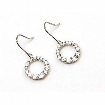 The Olivia Collection Sterling Silver Cz Circle Drop Earrings
