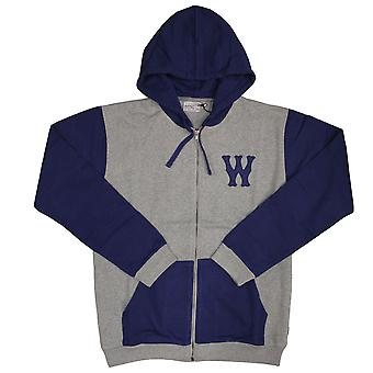 Wesc Franchise Chest Dub Zip Up Hoodie Grey Melange