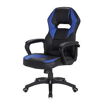 Rebecca Furniture Armchair office chair Gaming black Blue Nylon imitation leather comfortable