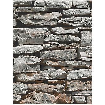 Moroccan Wall Natural Slate Stone Wallpaper Arthouse 623000