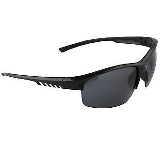 Sonnenbrille Sport Rechteck polarisierend Glas Silber schwarz free BrillenkokerS330_6
