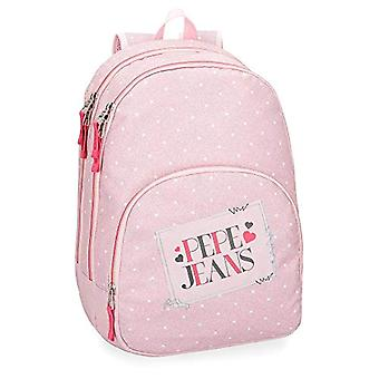 Pepe Jeans Olaia Pink Adaptable Backpack 44 cm - Double Compartment