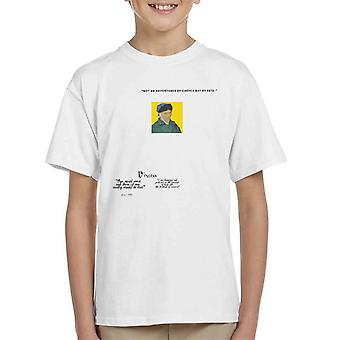 A.P.O.H Vincent van Gogh One Must Work And Dare Quote Kid's T-Shirt