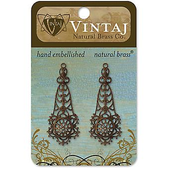 Vintaj Metal Accents 2 Pkg Alchemy 44X24mm Dp0025r