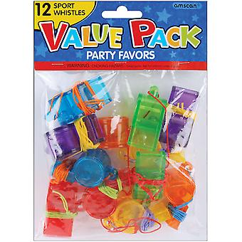 Party Favors 12 Pkg Sports Whistles 390191