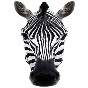 Máscara festa Animal cartão zebra