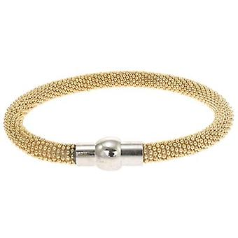Gold Bobble Bead Chain Magnetic Bracelet