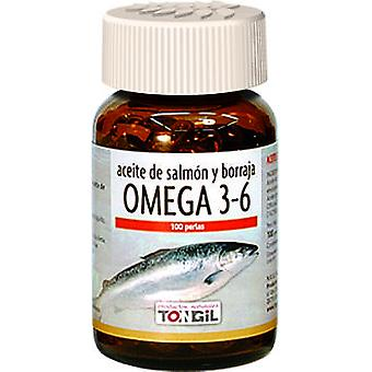 Tongil Omega 3 + 6 Acti-Salmon Oil e Borragine 100Perlas
