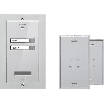 Door intercom Corded Complete kit Bellcome KIT.APA.2F002.BLS Semi-detached Silver