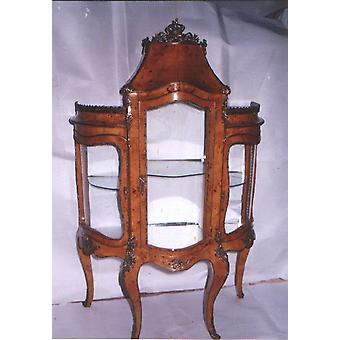 baroque vitrina glass cabinet  rococo antique style cupboard    Louis XV MoAl0358