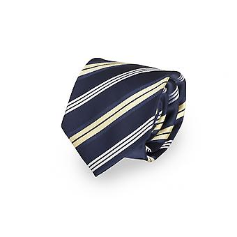 Charming tie blue white striped by Fabio Farini