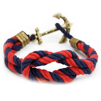 Kiel James Patrick Wex trip skipper anchor bracelet-Navy blue-red