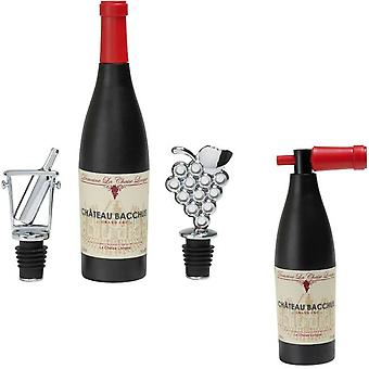 Gift set corkscrew with wine stoppers