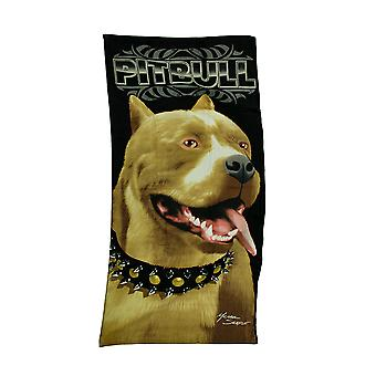 American Pit Bull Terrier Velour Beach Towel 30 X 60 in.
